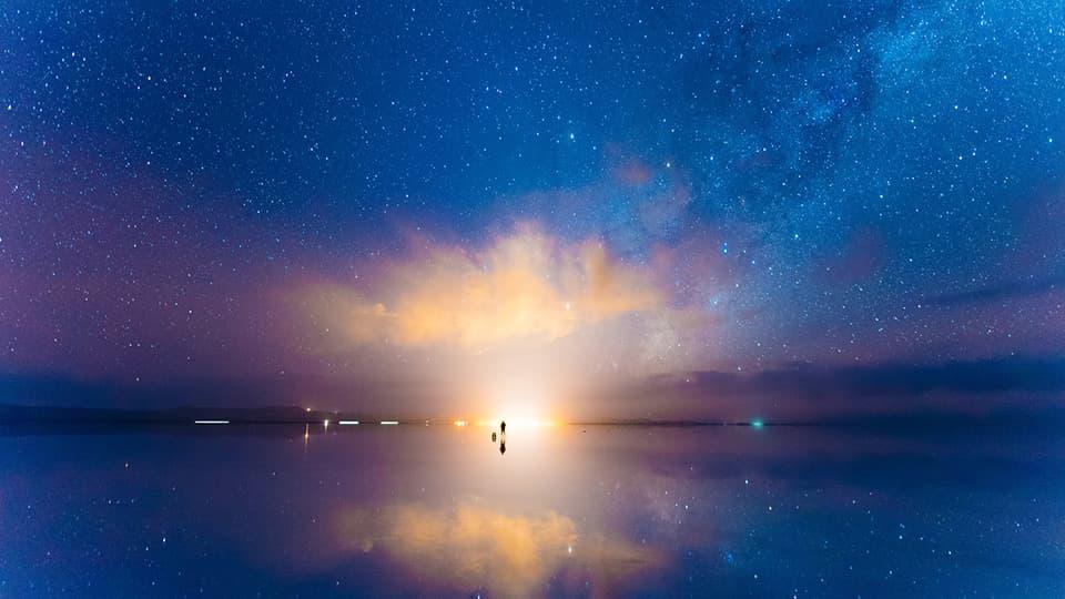 プロモーションビデオを撮影する絶景ウユニ塩湖