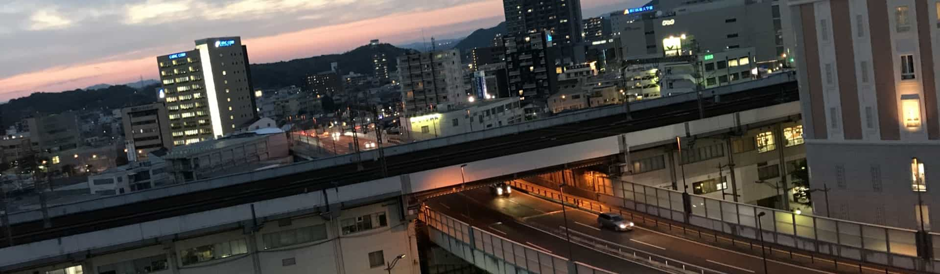 岡山市街空撮